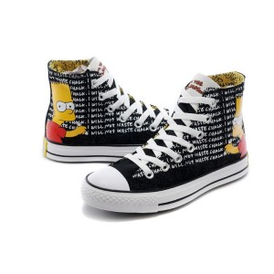 Converse Chuck Taylor All Star Bart Simpson Chalk Inscription